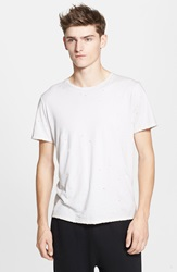 Drifter 'Saferris' Distressed T Shirt White