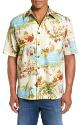 Kahala Men's Christmas Luau Short Sleeve Sport Shirt
