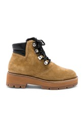 3.1 Phillip Lim Dylan Shearling Lace Up Boot Tan