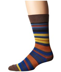 Etro Mini Striped Socks Beige Men's Crew Cut Socks Shoes
