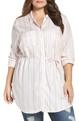 Melissa Mccarthy Seven7 Plus Size Women's Belted Two Pocket Tunic Shirt