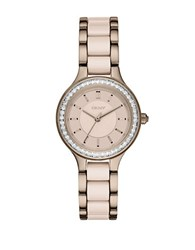 Dkny Ny2467 Chambers Ceramic And Stainless Steel Watch Rose Gold