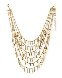 Sequin Multilayer Statement Necklace Gold