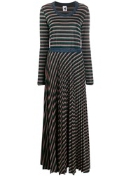 M Missoni Metallic Effect Striped Knitted Dress 60