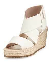 Eileen Fisher Willow Leather Espadrille Sandal Stone Women's
