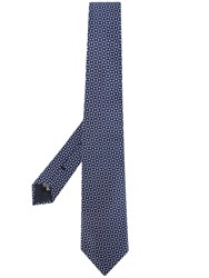 Emporio Armani Patterned Tie Blue