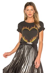 Lauren Moshi Croft Fire Heart Tee Black