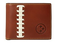 Dooney And Bourke Nfl Leather Wallets Credit Card Billfold Tan Tan Steelers Credit Card Wallet Brown
