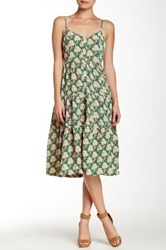 Porridge Tiered Printed Dress Green