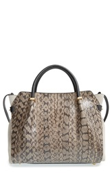 Nina Ricci 'Medium Marche' Genuine Snakeskin And Leather Satchel Elephant Skin