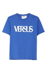 Versus By Versace Holographic Logo T Shirt B1343 Purple