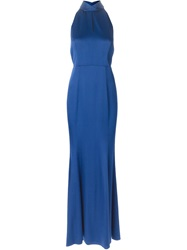 Jason Wu Halterneck Evening Dress Blue