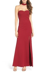 Sequin Hearts Women's Choker Gown