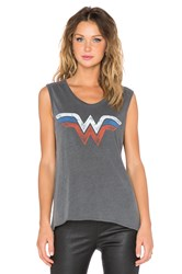 Junk Food Wonder Woman Tank Charcoal