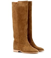 Isabel Marant Etoile Cleave Concealed Wedge Suede Boots Brown