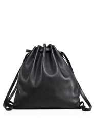 Alexander Wang Pebbled Leather Gym Bag Black