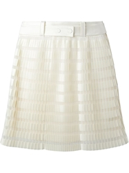 3.1 Phillip Lim Pleated Layered Skirt Nude And Neutrals