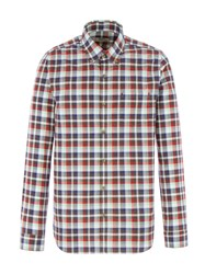 Gibson Men's Brown And Red Check Shirt Brown