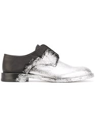 Maison Martin Margiela Painted Derby Shoes Men Calf Leather Leather 43 Grey