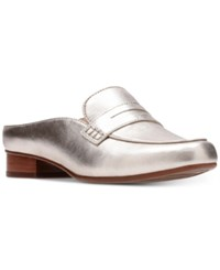 Clarks Artisan Women's Keesha Donna Mules Women's Shoes Gold Leather