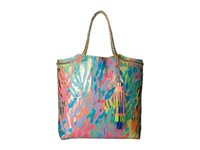 Lilly Pulitzer Reversible Seaside Tote Gold Metallic Sparkling Sands Tote Handbags Multi