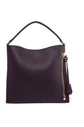 Tom Ford Alix Small Textured Leather Tote Grape