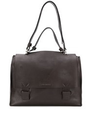 Orciani Foldover Briefcase Brown