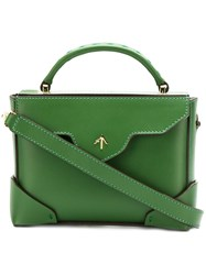 Manu Atelier Box Shoulder Bag Green