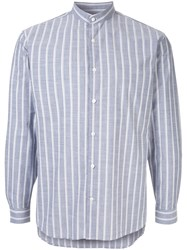 Cerruti 1881 Mandarin Collar Shirt Blue