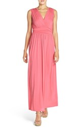 Fraiche By J Women's Surplice Jersey Maxi Dress