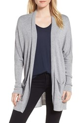 Trouve Open Front Cardigan Grey Heather