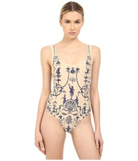 Vivienne Westwood Propaganda Swimsuit Blue Women's Swimsuits One Piece