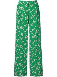 P.A.R.O.S.H. Floral Print Trousers Green