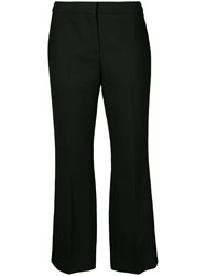 Alexander Mcqueen Bootcut Cropped Tailored Trousers Black
