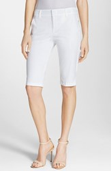 Vince Women's Side Buckle Bermuda Shorts White