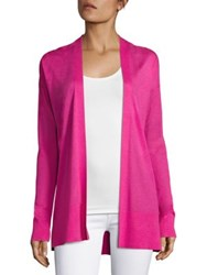 Saks Fifth Avenue Silk And Cashmere Open Cardigan Lime Green Pastel Pink Pastel Blue Heather Grey Ma