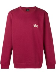 Stussy 19142570606 To Basic Crew Wine Red