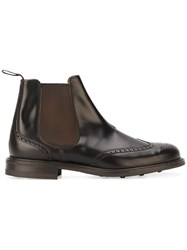 Church's Brogue Detailing Chelsea Boots Black