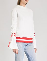 Maggie Marilyn Light The Way Cotton Jersey Hoody White