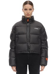 Heron Preston Cropped Nylon Down Jacket Black