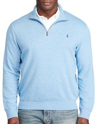 Polo Big And Tall Cotton Blend Jersey Pullover Soft Royal Heather