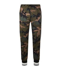 Valentino Camouflage Front Sweatpants Green