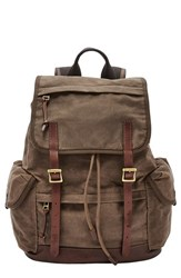 Fossil Men's 'Defender' Canvas Rucksack Brown