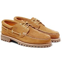 Timberland Engineered Garments Suede And Nubuck Boat Shoes Tan