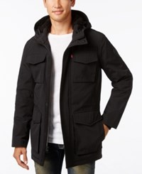 Levi's Men's Cotton Parka With Faux Fur Lining Black