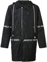 Mostly Heard Rarely Seen Hooded Parka Black