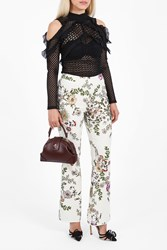 Giambattista Valli Women S Floral Print Trousers Boutique1 3250 Avorio
