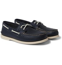Sperry Authentic Original Leather Boat Shoes Navy