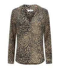 Equipment Adalyn Cheetah Print Silk Shirt Female Multi