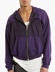Haider Ackermann Purple Raw Edged Hoodie